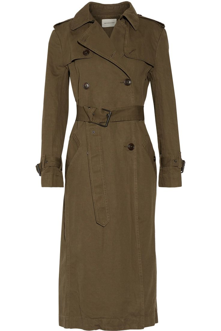 Shop on-sale Étoile Isabel Marant Maden cotton and linen-blend trench coat. Browse other discount designer Coats & more on The Most Fashionable Fashion Outlet, THE OUTNET.COM