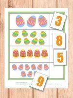 * Eieren...cijfers...van 1 tot 10