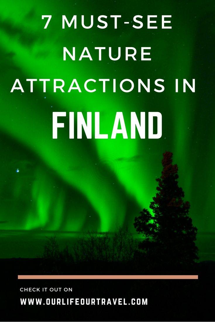 Finland | Europe | Bucketlist Nature attractions in Finland: northern lights (Aurora Borealis)