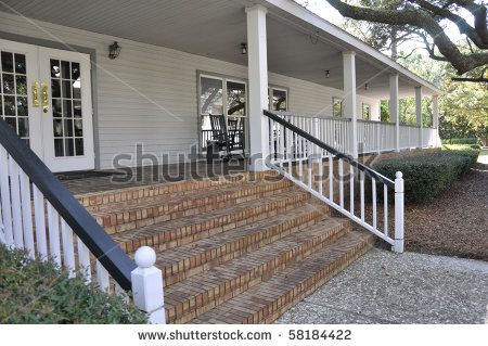 28 Best Images About Front Porch On Pinterest Concrete Steps Victorian Porch And Wood Railing