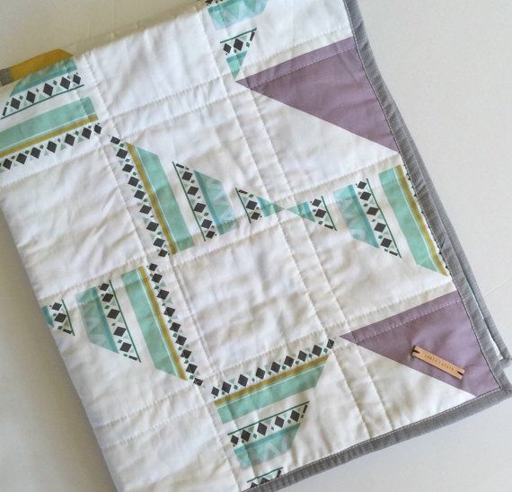 Hey, I found this really awesome Etsy listing at https://www.etsy.com/listing/221593760/modern-baby-quilt-modern-toddler-quilt