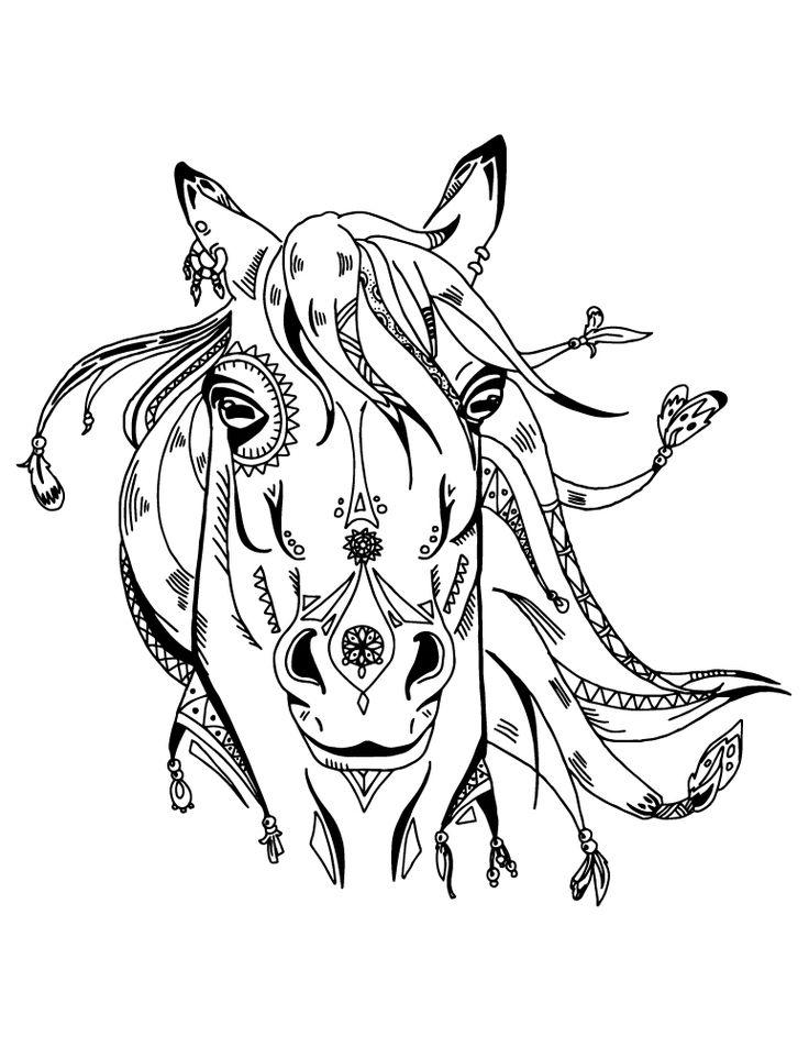 Les 25 meilleures id es de la cat gorie cheval a imprimer - Devine tete a imprimer ...