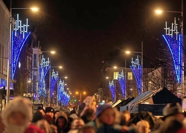 Lowestoft Town centre Christmas light switch on.
