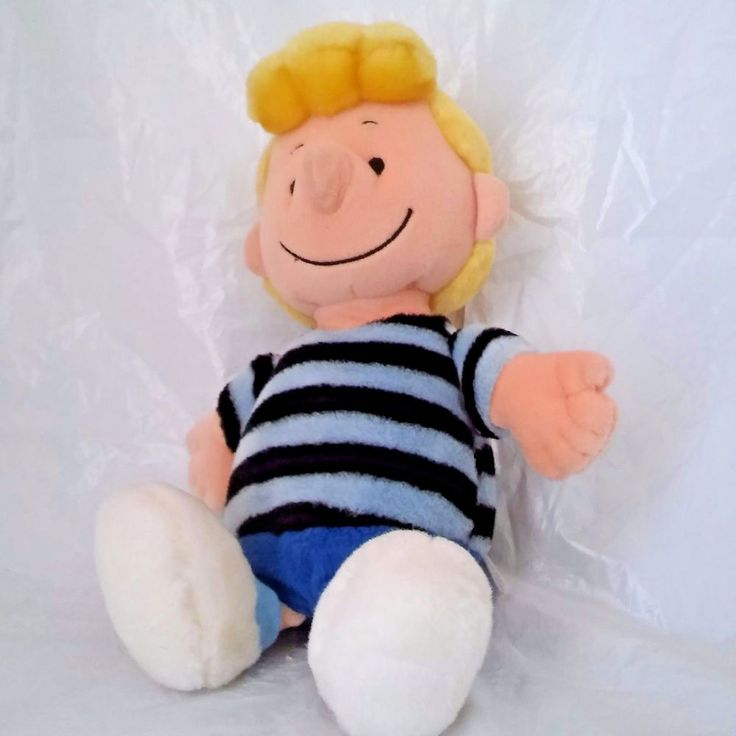 "Schroeder Peanuts Plush Stuffed Animal 12"" Doll Striped Shirt Peanuts Gang #CedarFairEntertainment"