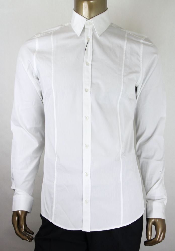 736ee7b05e3 New Gucci Men s White Cotton Slim Dress Shirt 307656 21131 9000  fashion   clothing  shoes  accessories  mensclothing  shirts (ebay link)