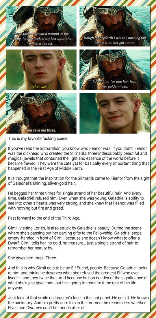One Example of How The Lord Of The Rings Is Such a Rich Story - and another reminder of how awesome a director Peter Jackson is to incorporate this.