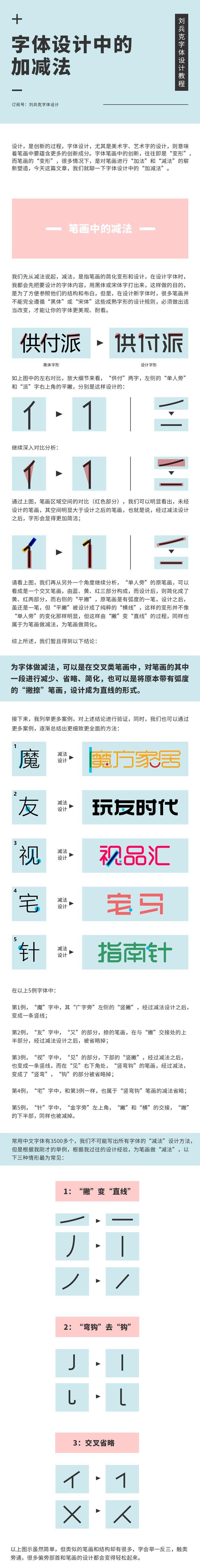 字体设计中的加减法|平面|教程|刘兵克 - 原创文章 - 站酷 (ZCOOL)