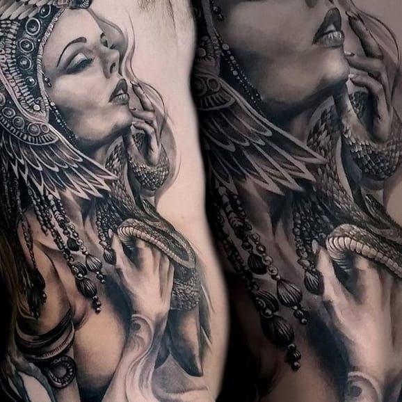 18 Royal Cleopatra Tattoos | Tattoodo.com