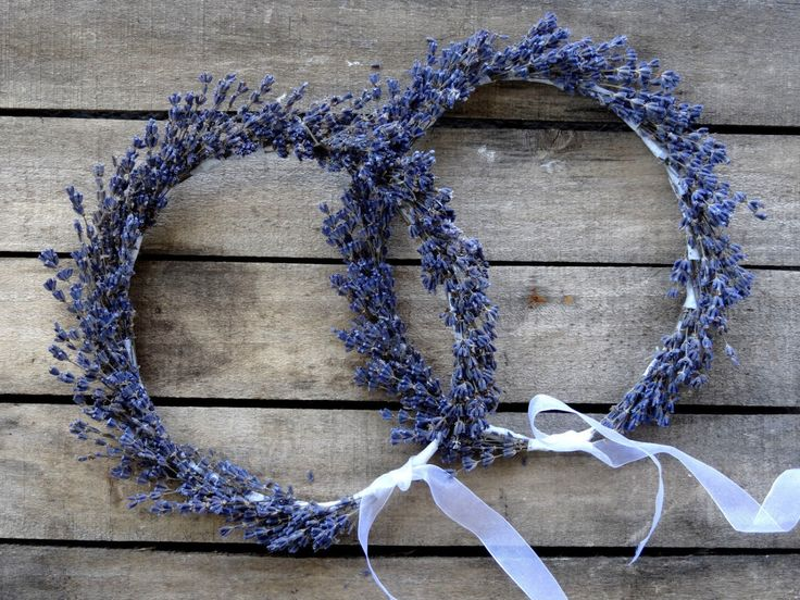 Dried Lavender Bridal Flower Crown - Wedding Crown - For Brides, For Bridesmaids, For Flower Girls - Bridal Accessories - SET OF TWO by SteliosArt on Etsy https://www.etsy.com/listing/201205696/dried-lavender-bridal-flower-crown