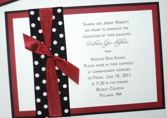 Graduation Invitations -- Simple homemade announcement idea