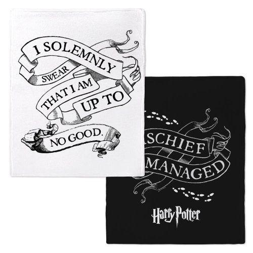 Harry Potter Mischief Managed/Solemnly Swear Fleece Throw Blanket