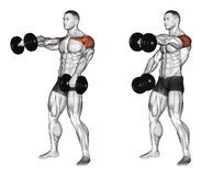 Exercising. Dumbbell Seated Shoulder Press Parallel Grip - Download From Over 55 Million High Quality Stock Photos, Images, Vectors. Sign up for FREE today. Image: 67872010