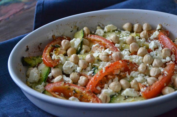 Mijn kookavonturen: Courgettes en tomaten met feta