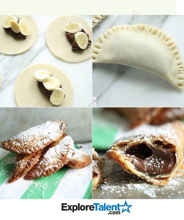 Now this is our idea of Mexican. Banana Nutella empanadas.