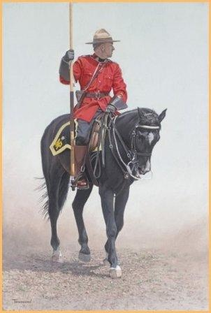RCMP Rider Brent Townsend - 140 anniversary of the Northwest Mounted Police (now Royal Canadian Mounted Police)