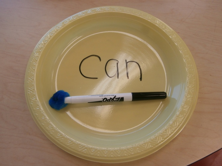 Teacher Mom of 3: Pinterest Inspired Use a pom pom on the end of the the whiteboard marker for an instant eraser! Also use a plastic plate if you don't have whiteboards! Brilliant!
