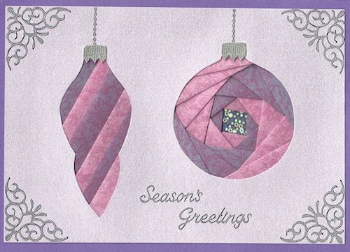FREE PAIR OF ORNAMENTS PATTERN - Iris Folding Christmas Collection on CD - 10…