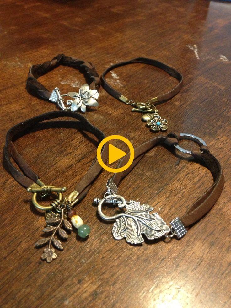 Pulseiras de couro por BlackByrd Jewelry em Knoxville, Tn. Confira-me no Etsy !! …   – Jewelry