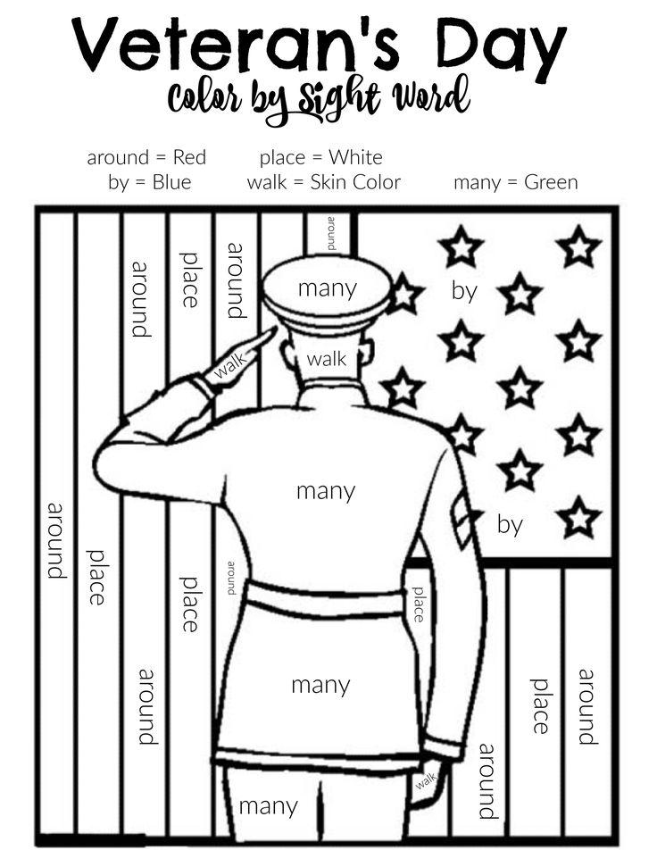 First Grade Wonders Unit 2, Week 5 Veteran's Day Color