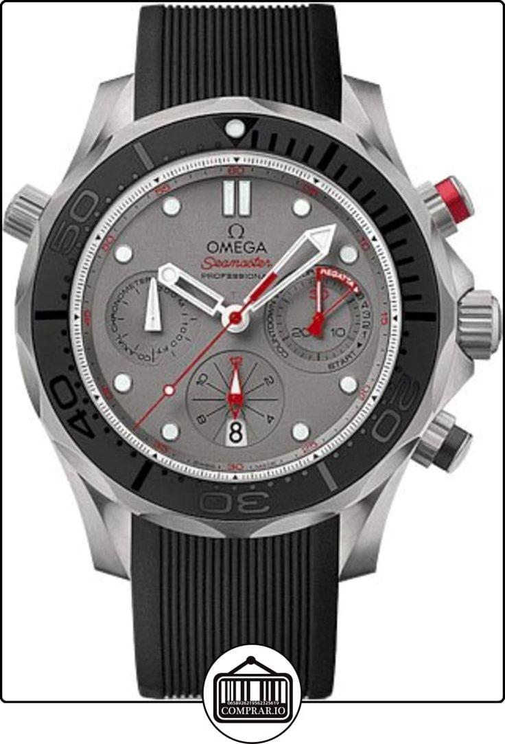 Omega Seamaster Buzo 300Cronógrafo Automático Gris Dial Negro Goma Hombres Reloj 21292445099001  ✿ Relojes para hombre - (Lujo) ✿