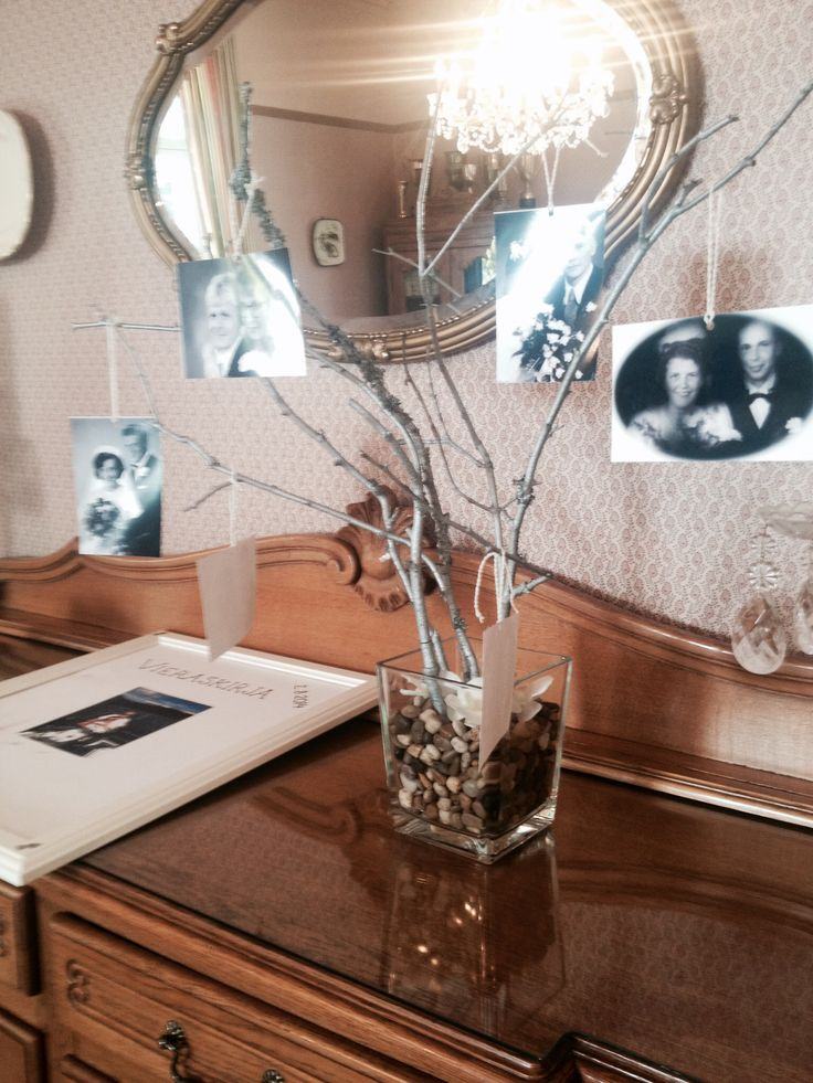 Ihana idea! Suvun hääkuvat sukupuuksi! / Lovely idea to make a family tree of old wedding photos!