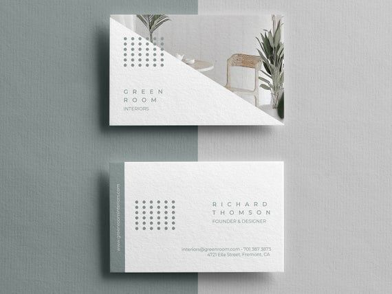 Business Cards Template Business Thank You Cards Thank You Etsy Interior Designer Business Card Diy Business Cards Business Card Template