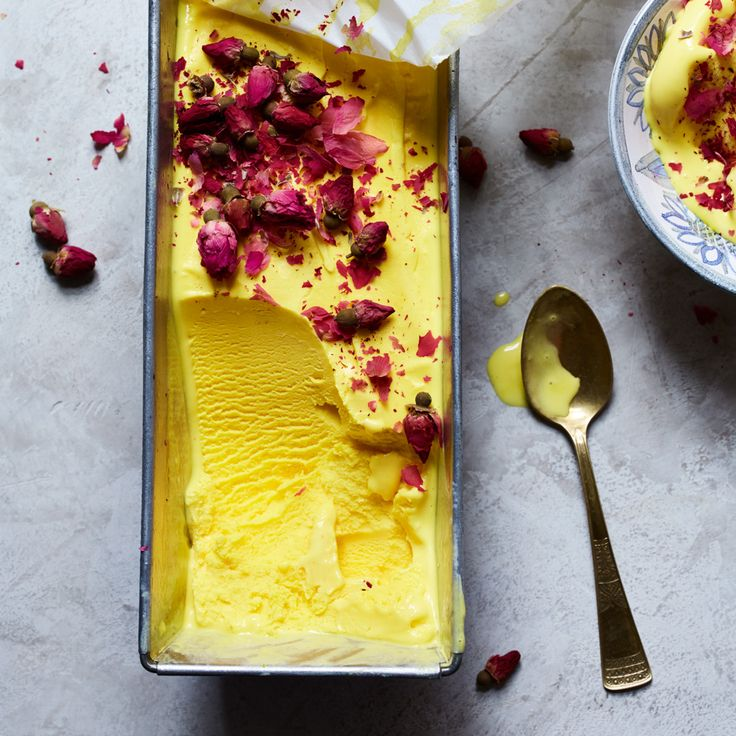 Rosewater-and-Saffron Ice Cream (Bastani Irani) | Food & Wine food photography, food styling, learn food photography