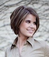 Some gals look awesome with short hair, I wish I were one of them...