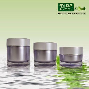 TJ03 High quality double wall cosmetic acrylic jar