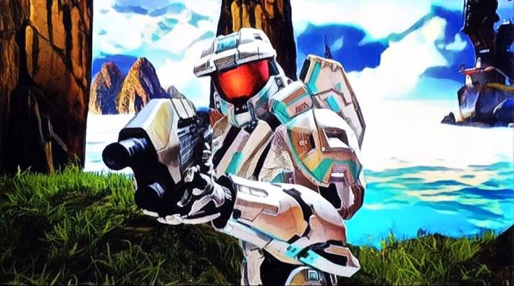 Temporary Halo 4 SPARTAN Ops Model Prisma Edit #2 (Based On The Colours Of Stardust Dragon). #xbox #xbox360 #halo #halo4 #markvi #spartan #stardustdragon #basedon #colors #white #cyan #prisma #edit