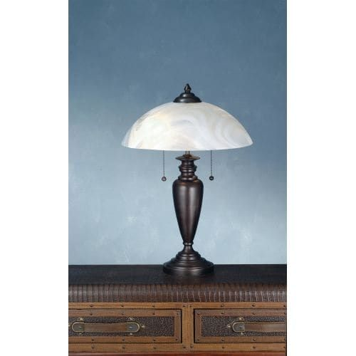Meyda Tiffany 70408 Table Lamp from the Metro Line Collection - craftsman brown