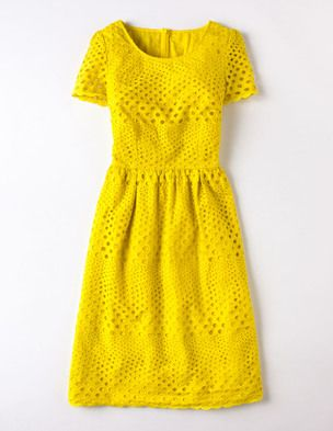 I've spotted this @BodenClothing Pretty Eyelet Dress Zest