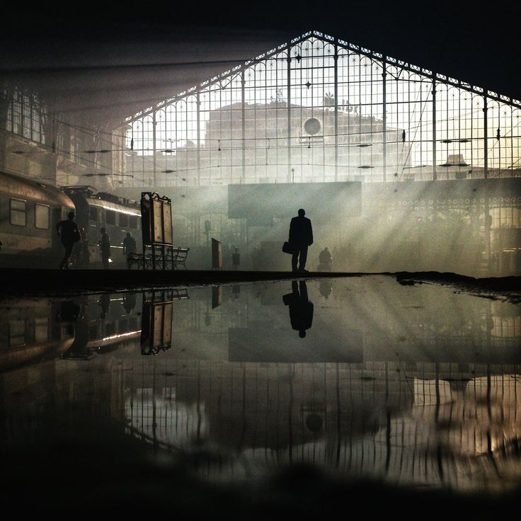 And here, the Nyugati train station makes for an eerie scene.