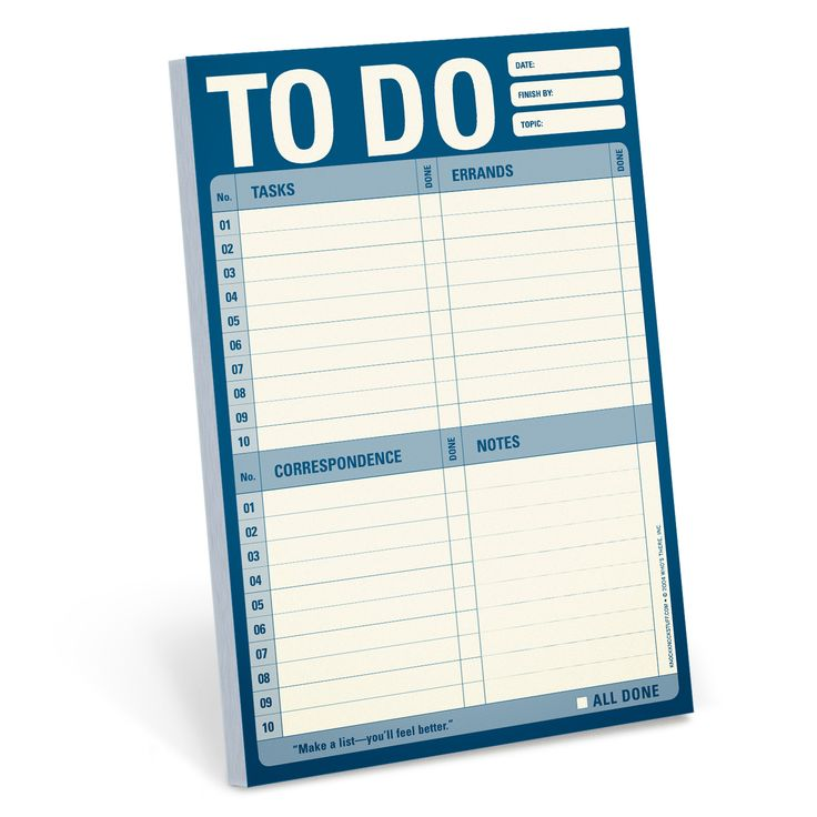 To Do Pad for Daily To-Do List by Knock Knock - knockknockstuff.com