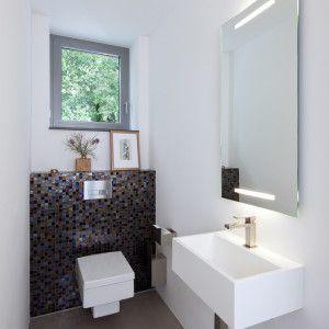 Gäste Wc Spiegel Modern Stil Für Gästetoilette Mit Eckiges Wc Von ...