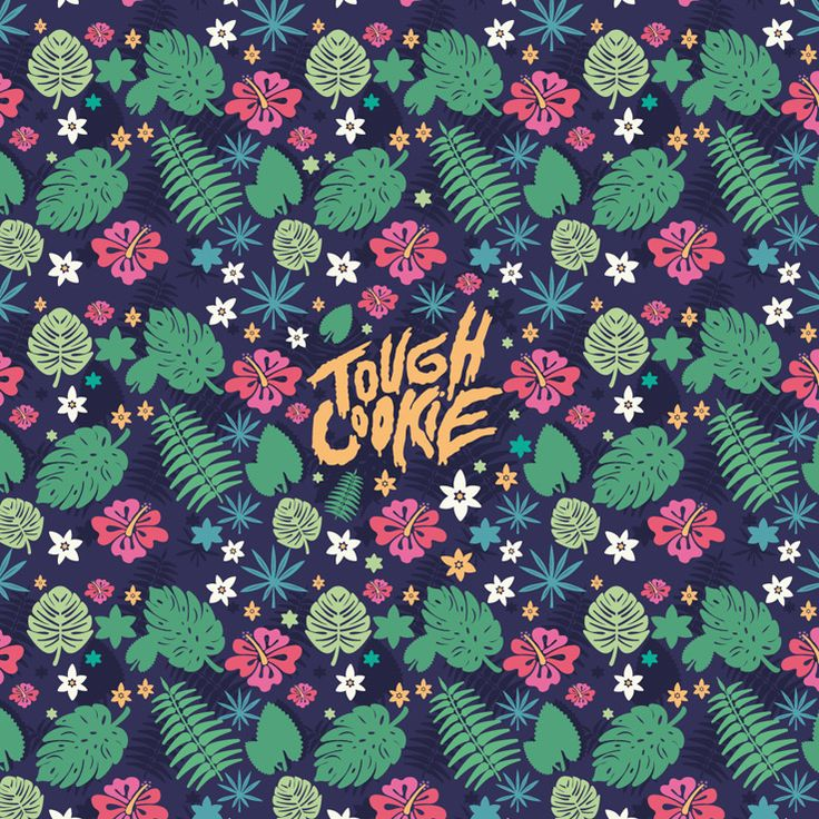 Tough Cookie Tropical Pattern By @AtomikeStudio - #illustration #Branding