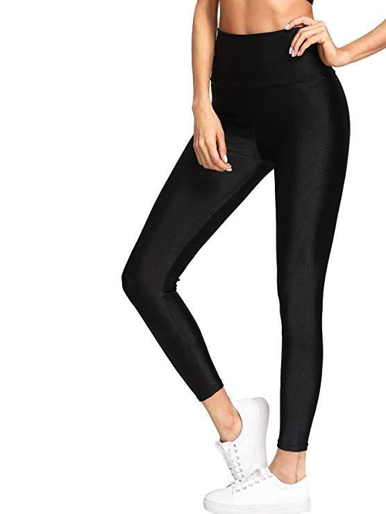 827b3881a116a SweatyRocks Women's Drawstring Waist Long Workout Yoga Legging Active Pant  at Amazon Women's Clothing store: