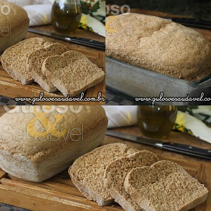 Este Pão Integral com Fibra de Trigo é uma opção saudável, econômica e saborosa para o #lanche!  #Receita no link => http://www.gulosoesaudavel.com.br/2016/01/04/pao-integral-com-fibra-trigo/
