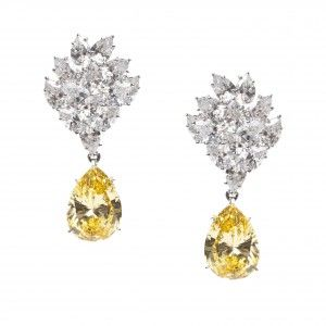 Exquisite Diamond Earrings www.finditforweddings.com