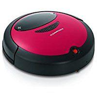 cleanmaxx 09860 Saugroboter mit Bodentuch 2-in-1   Robotersauger   automatischer und sensorgesteuerter Staubsauger   Bodenreinigung, rot / schwarz