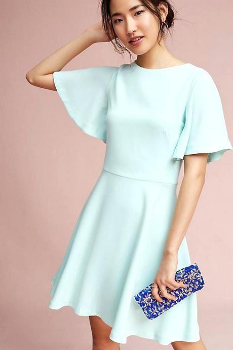 Robe mariee bleu pastel