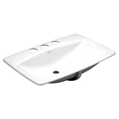 KOHLER Man's Lav Vitreous China Undermount Bathroom Sink in White with Overflow Drain-K-2885-8U-0 - The Home Depot