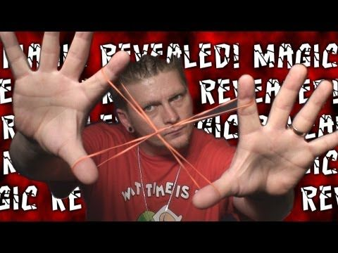 """""""Rubber Band Through Rubber Band Trick"""" MAGIC REVEALED!"""