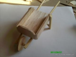Thorough illustrated step-by-step for wheelbarrow | Source: el mundo de las manualidades y la artesanía