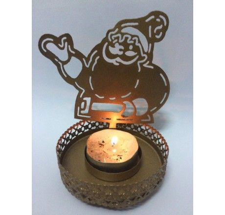 Christmas Decorations - Santa claus shaped candle / T Light Holder