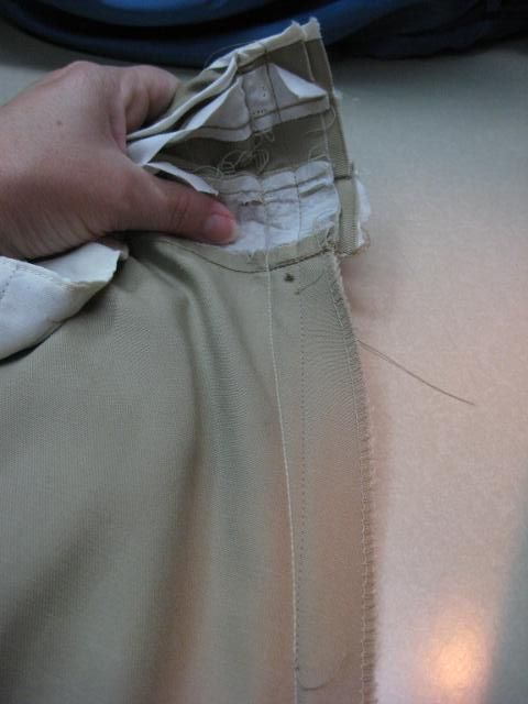 Altering Mens dress pants waistband (letting out)