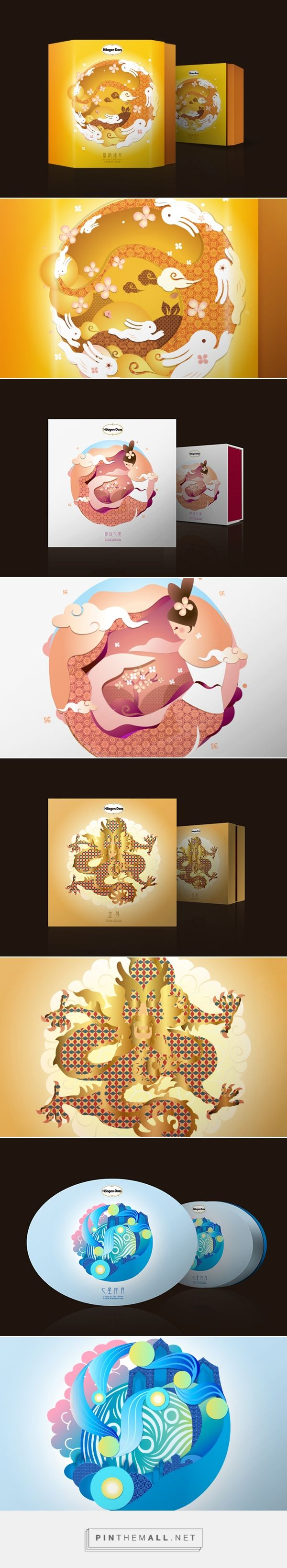Häagen-Dazs Mooncake on Behance... - a grouped images picture - Pin Them All