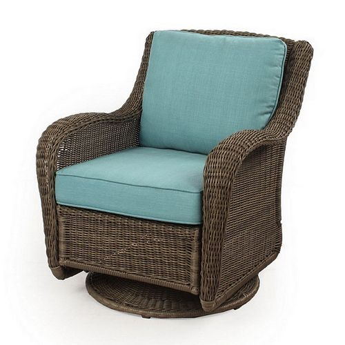Sonoma Outdoors Presidio Wicker Swivel Chair Patio