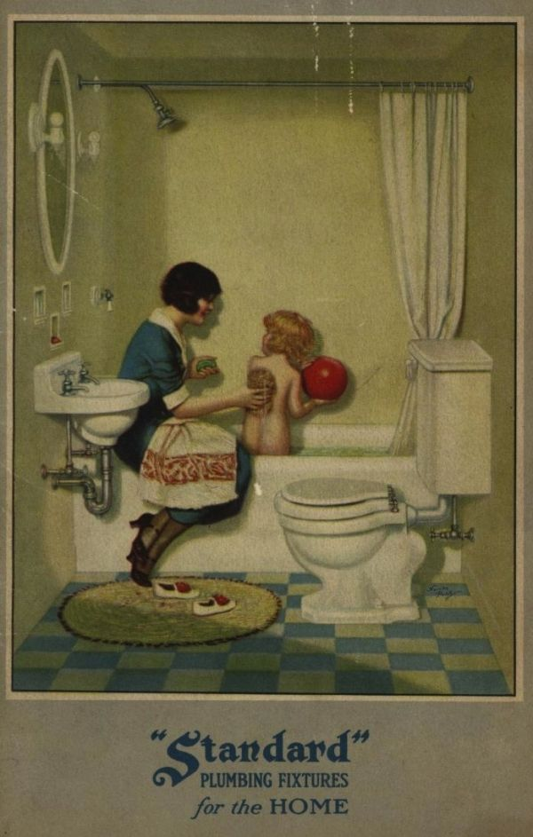 Standard Plumbing Fixtures for the Home, c. 1920. THIS WOULD BE COOL TO PRINT…