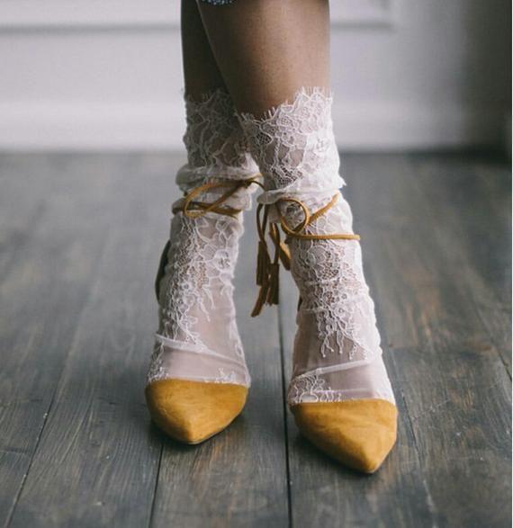 Weiße Spitzensocken Braut Spitzensocken Sexy Socken Weiß | Etsy